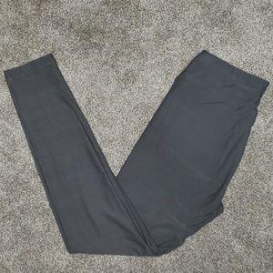 LuLaRoe OS SOLID grey leggings